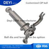 Esfera giratória sanitária personalizada do pulverizador do CIP com braçadeiras dobro