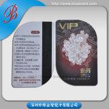 Carte en plastique de membre de PVC de forme spéciale anormale