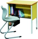 좋은 Design School Furniture Fixed Single Desk & Double 갑판을%s 가진 Chair