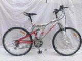 """Bicicleta de montanha cheia da suspensão de 21 velocidades 24 """" com pneumático colorido (YK-MTB-041)"""