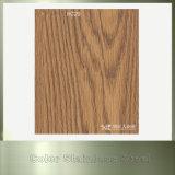 1,5 mm Feuille de grain de bois en acier inoxydable décoratif pour armoire de cuisine