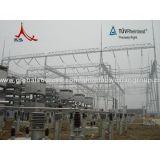 Struttura d'acciaio della sottostazione elettrica da 110 chilovolt