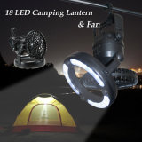 2 poderosos em 1 lanterna de acampamento do diodo emissor de luz com ventilador