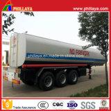 Petrolero ácido del tanque del acoplado líquido químico semi con el volumen opcional