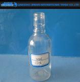 110-500mlシール・キャップが付いている透過円形のガラスビール瓶