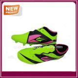 Luz barata da fábrica - sapatas do futebol das cores verdes (YHS012)