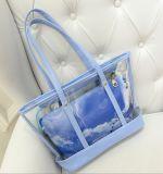 Sommer-Frauen-Form transparente Kurbelgehäuse-Belüftungfördernde Tote-Handtaschen (BDM021)