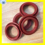 Anel-O vermelho do selo do óleo da gaxeta do silicone para a máquina