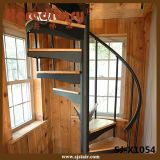 Нутряной деревянный стрингер стали углерода винтовой лестницы проступей (SJ-865)