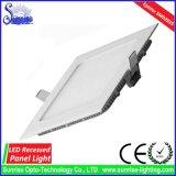 사각에 의하여 중단되는 9W LED 위원회 또는 천장 빛