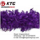 Os 40 pesos de grama barato tingiram a boa do Chandelle da plumagem das penas de Turquia da cor-de-rosa quente