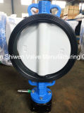 API/BS/ISO duktiler Eisen-Oblate-Typ Drosselventil mit Nylon-überzogener Platte