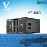 Vt4889 het Dubbele 3-Way Grote AudioSysteem van de Serie van de Lijn van Grootte 15 ''