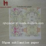 63 '' rolo de alta velocidade do papel de transferência do Sublimation da impressão 45/50/80/100GSM para a matéria têxtil