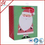 Sacos de papel do presente de Papai Noel do saco do Natal do presente com brilho cheio