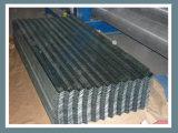 O material de telhadura galvanizado corrugou o tipo da onda da folha do telhado