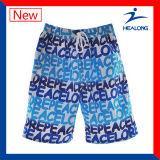 Healong Customized Dye Sublimation Printing Short de plage