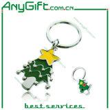 De zachte Sleutelring van de Kerstboom van het Metaal van het Email met Aangepast Embleem