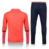 Il vestito lungo di addestramento di sport del manicotto dei nuovi di calcio uomini reali della tuta sportiva scherza il maglione 2017 di gioco del calcio di misura con i pantaloni