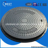 A15 SMC Round Composite Sewer Manhole Cover with Frame