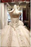 2016 Robes de mariée en cristal sans bretelles en cristal nuptiales Rfl001