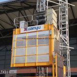Élévateur traitant vertical de matériau de construction avec cages simples/doubles pour la location