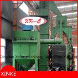 Máquina del chorreo con granalla de la viga de la construcción
