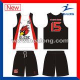 Uniforme respirável personalizado de Jersey do basquetebol do projeto