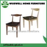 固体灰の椅子を食事する木製の喫茶店の椅子Leaure