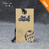 Hangtags impresos diseño del papel de Kraft de la manera de la ropa de la mujer