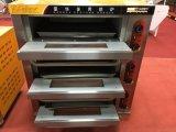 Four électrique de 3 plateaux des paquets 3 pour l'usage de boulangerie (WDL-3-3)