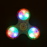 Hand Finger Spinner Fidget LED Light Plastic EDC Hand Spinner LED para Autismo Alívio Focus Ansiedade Tri-Spinner