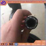 Boyau en caoutchouc hydraulique tressé de fil d'acier d'OEM
