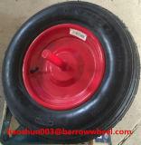 350-8一輪車のための車軸が付いているゴム製空気車輪