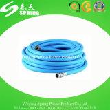 Boyau hydraulique renforcé de pipe d'irrigation de jardin de l'eau tressé par fibre flexible en plastique de PVC avec l'ajustage de précision
