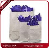 Auftrag-Bucht-blaue Käufer-kundenspezifische Packpapier-Geschenk-Einkaufstasche für Kleid Packling