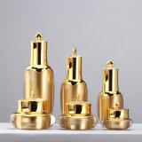 da coroa luxuosa do ouro de 15g 30g 50g frasco de creme de empacotamento cosmético acrílico plástico Shaped e frasco