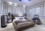 Weiße echtes Leder-Schlafzimmer-Möbel (B005)