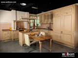 Welbomのヨーロッパ式の純木の食器棚
