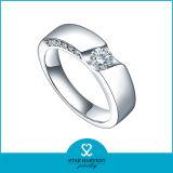 2015 anéis de cristal de imitação de prata da venda 925 quentes (R-0455)