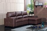 Sofa de Recliner de cuir véritable (712)