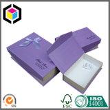 Прикрепленная на петлях коробка картона цвета черноты крышки бумажная упаковывая с вставкой