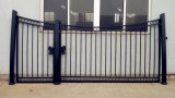 細工した高品質は塀の私道の鉄のゲートを滑らせる自動振動を造った
