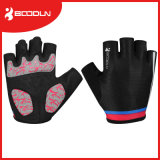 Microfiber mit Silicon Print Cycling Gloves für Sales