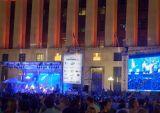 Hintergrund LED-Bildschirm der Stufe-2015 InnenP7.62