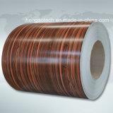 Lamiera di acciaio rivestita del grano di legno di vendita della fabbrica della Cina