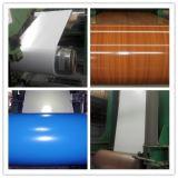 El color acanalado del material de material para techos PPGI cubrió las hojas acanaladas galvanizadas la bobina de acero