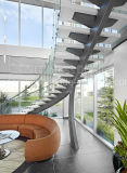 Medio Spine Escalera de vidrio / media columna curvada escalera / escalera helicoidal