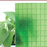 安全ガラスのための6mmの6.5mm緑のNashijiによって模造されるワイヤーで縛られたガラス