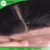 Encierro superior brasileño 100% del cordón del pelo 4X4 del pelo humano de la calidad